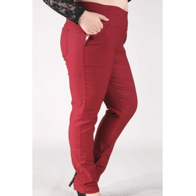 Fashionable High-Waisted Stretchy Plus Size Pants For WomenYoga<br>Fashionable High-Waisted Stretchy Plus Size Pants For Women<br><br>Style: Fashion<br>Length: Normal<br>Material: Cotton,Polyester<br>Fit Type: Skinny<br>Waist Type: High<br>Closure Type: Elastic Waist<br>Pattern Type: Solid<br>Pant Style: Pencil Pants<br>Weight: 0.470KG<br>Package Contents: 1 x Pants