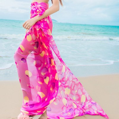 Petals Pattern Chiffon Sarong For Women