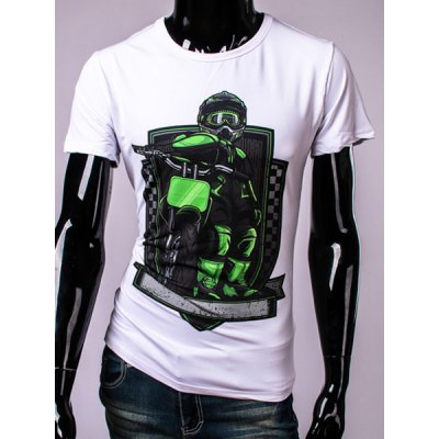 White Motorcycle T Shirts