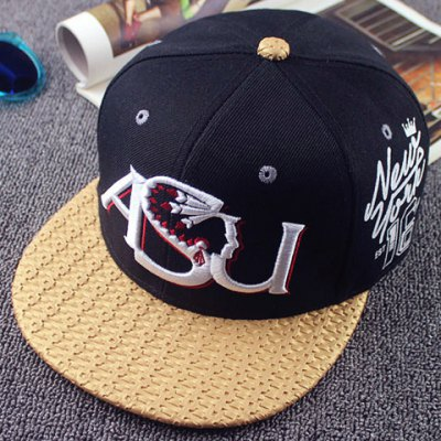 Letter and Candle Embroidery Weaving Brim Baseball Cap For Men