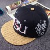 Stylish Letter and Candle Embroidery Weaving Brim Baseball Cap For Men deal