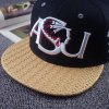 Stylish Letter and Candle Embroidery Weaving Brim Baseball Cap For Men for sale