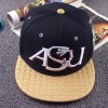 cheap Stylish Letter and Candle Embroidery Weaving Brim Baseball Cap For Men