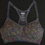 Sporty Style Strappy Colorful Racerback Sports Bra For Women