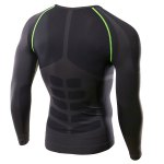 Slimming Pullover Round Collar Printed Long Sleeves Cycling T-Shirt For Men deal