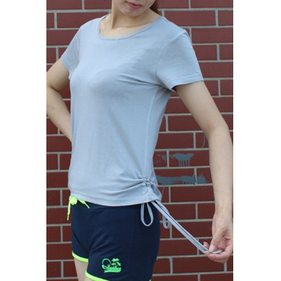 Womens Active Scoop Neck Short Sleeve Candy Color Sport T-ShirtYoga<br>Womens Active Scoop Neck Short Sleeve Candy Color Sport T-Shirt<br><br>Material: Polyester<br>Clothing Length: Regular<br>Sleeve Length: Short<br>Collar: Scoop Neck<br>Pattern Type: Solid<br>Weight: 0.370KG<br>Package Contents: 1 x T-Shirt