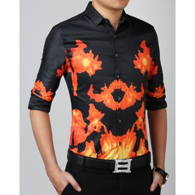 Stylish Turn-Down Collar 3D Fire Pattern Long Sleeve Mens ShirtMens Shirts<br>Stylish Turn-Down Collar 3D Fire Pattern Long Sleeve Mens Shirt<br><br>Shirts Type: Casual Shirts<br>Material: Cotton Blends<br>Sleeve Length: Full<br>Collar: Turn-down Collar<br>Weight: 0.550KG<br>Package Contents: 1 x Shirt