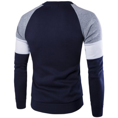 Casual Color Block Round Collar Sweatshirt For MenMens Hoodies &amp; Sweatshirts<br>Casual Color Block Round Collar Sweatshirt For Men<br><br>Material: Cotton Blends<br>Clothing Length: Regular<br>Sleeve Length: Full<br>Style: Active<br>Weight: 0.850KG<br>Package Contents: 1 x Sweatshirt