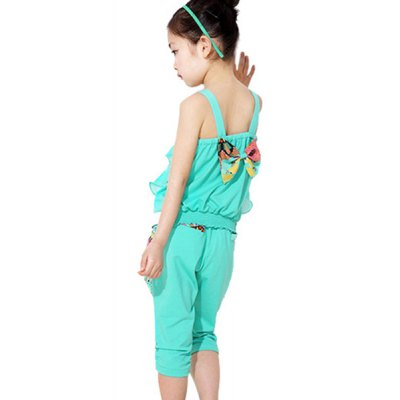 Ethnic Style Spaghetti Strap Tank Top + Printed Cropped Pants Girls TwinsetGirls Clothing<br>Ethnic Style Spaghetti Strap Tank Top + Printed Cropped Pants Girls Twinset<br><br>Material: Polyester<br>Clothing Length: Regular<br>Sleeve Length: Sleeveles<br>Style: Fashion<br>Pattern Style: Print<br>Weight: 0.237kg<br>Package Contents: 1 x Tank Top  1 x Cropped Pants