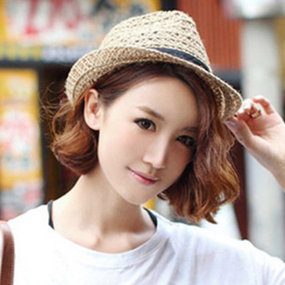 Elegant Simple Design Hollow Out Straw Hat For Women