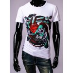 3D Skull Doctor and Letters Print Round Neck Short Sleeve T-Shirt For Men