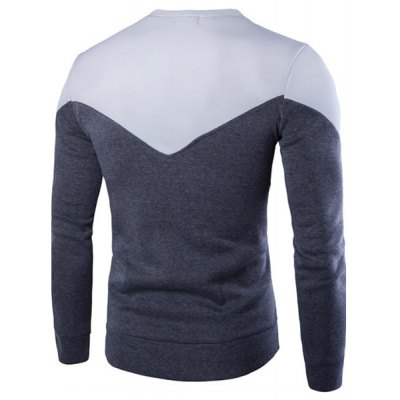 Slimming Long Sleeves Pullover Round Collar Color Block Sweatshirt For MenMens Hoodies &amp; Sweatshirts<br>Slimming Long Sleeves Pullover Round Collar Color Block Sweatshirt For Men<br><br>Material: Cotton Blends<br>Clothing Length: Regular<br>Sleeve Length: Full<br>Style: Active<br>Weight: 0.850KG<br>Package Contents: 1 x Sweatshirt