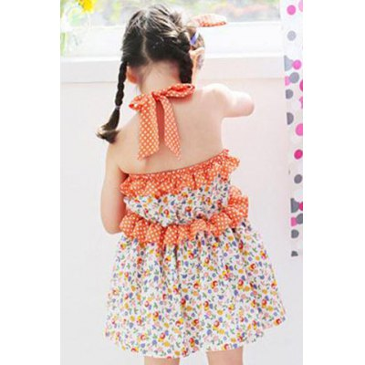 country-style-halter-floral-print-flounced-mini-dress-for-girl