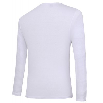 Slim Fit Pullover Solid Color Faux Twinset Long Sleeves T-Shirt For Men