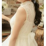 best Chic Stand Collar Sleeveless Asymmetrical Solid Color Women's Dress