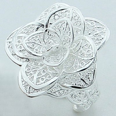 Rose Floral Hollow Out Ring
