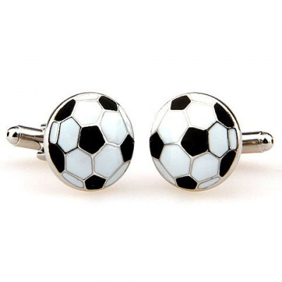 Football Shape Embellished Alloy Cufflinks For Men