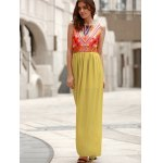 Bohemian Style Sleeveless Round Neck Printed Women's Dress for sale