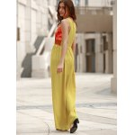 Bohemian Style Sleeveless Round Neck Printed Women's Dress deal