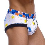 cheap Elastic Waist Palm Pattern Print Men's Sexy Penis Pouch Briefs