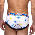 Elastic Waist Palm Pattern Print Men's Sexy Penis Pouch Briefs deal