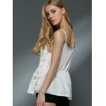 best Sweet Daisy Lace Design Spaghetti Strap Chiffon Tank Top For Women