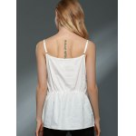 Sweet Daisy Lace Design Spaghetti Strap Chiffon Tank Top For Women photo