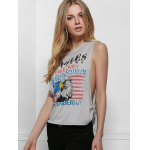 Fresh Style Eagle Printed Side Boob Tank Top For Women for sale