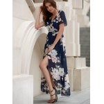 Floral Maxi Sheer Swing Wrap Dress for sale