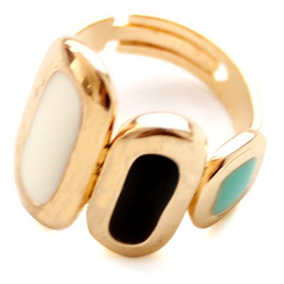Chic Oval Colorful Alloy Cuff Ring For Women