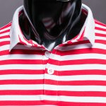 Slim Fit Short Sleeves Stripe Half Button Polo T-Shirt For Men deal