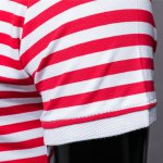 best Slim Fit Short Sleeves Stripe Half Button Polo T-Shirt For Men