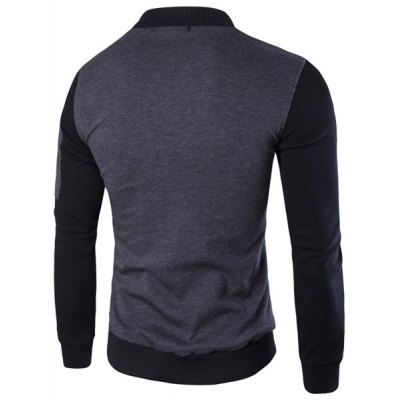 Stand Collar Rib Spliced PU-Leather Long Sleeve Jacket For MenMens Jakets &amp; Coats<br>Stand Collar Rib Spliced PU-Leather Long Sleeve Jacket For Men<br><br>Clothes Type: Jackets<br>Style: Fashion<br>Material: Cotton,Faux Leather<br>Collar: Stand Collar<br>Clothing Length: Regular<br>Sleeve Length: Long Sleeves<br>Season: Fall,Spring<br>Weight: 0.850KG<br>Package Contents: 1 x Jacket