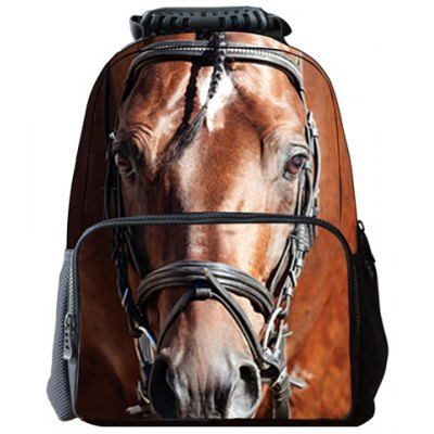 Fashion Zipper and Horse Print Design Backpack For Men