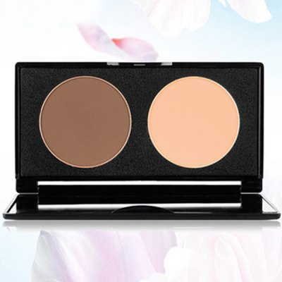2 Colours Contour Highlight Shadow Pressed Powder Palette with Mirror