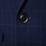 Checked Lapel Long Sleeve Single Breasted Blazer For Men for sale