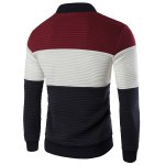 cheap Stand Collar Color Block Spliced Long Sleeve Jacket