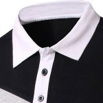 Slimming Splicing Polo Short Sleeves T-Shirt For Men deal