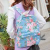 Sweet Floral Print and Canvas Design Satchel For Women deal