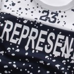 Active Round Neck Letters Snow Dot Print Short Sleeves T-Shirt+Capri Pants For Men deal