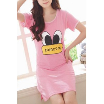Cute Scoop Neck Cartoon Print Short Sleeve Babydolls For WomenWomens Pajamas<br>Cute Scoop Neck Cartoon Print Short Sleeve Babydolls For Women<br><br>Material: Polyester<br>Pattern Type: Character<br>Embellishment: None<br>Weight: 0.320KG<br>Package Contents: 1 x Babydolls