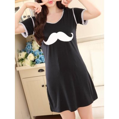 Cute Scoop Neck Mustache Print Short Sleeve Babydolls For WomenWomens Pajamas<br>Cute Scoop Neck Mustache Print Short Sleeve Babydolls For Women<br><br>Material: Polyester<br>Pattern Type: Character<br>Embellishment: None<br>Weight: 0.320KG<br>Package Contents: 1 x Babydolls