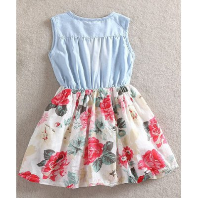 Sweet Sleeveless Flounced Floral Print Denim Dress For GirlGirls Clothing<br>Sweet Sleeveless Flounced Floral Print Denim Dress For Girl<br><br>Style: Cute<br>Material: Cotton Blend,Polyester<br>Fabric Type: Denim<br>Silhouette: A-Line<br>Dresses Length: Mini<br>Neckline: Round Collar<br>Sleeve Length: Sleeveless<br>Pattern Type: Floral<br>With Belt: No<br>Season: Summer<br>Weight: 0.126kg<br>Package Contents: 1 x Skirt