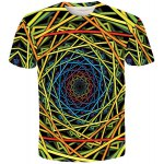Vogue Trippy Pattern Slimming Round Neck Short Sleeves 3D Printed T-Shirt For Men