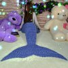 Fashion Comfortable Solid Color Handmade Wool Knitted Mermaid Design Throw Blanket deal