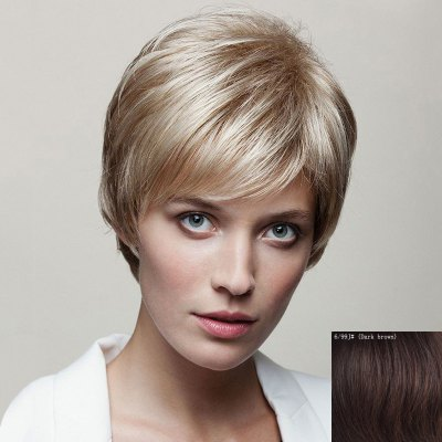 Spiffy Short Capless Fluffy Natural Straight Side Bang Human Hair Wig For WomenHuman Hair Wigs<br>Spiffy Short Capless Fluffy Natural Straight Side Bang Human Hair Wig For Women<br><br>Type: Full Wigs<br>Cap Construction: Capless<br>Style: Straight<br>Cap Size: Average<br>Material: Human Hair<br>Bang Type: Side<br>Length: Short<br>Occasion: Daily<br>Density: 130%<br>Length Size(CM): 14<br>Weight: 0.130KG<br>Package Contents: 1 x Wig