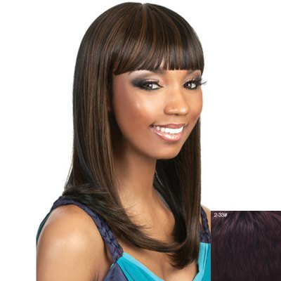 Attractive Full Bang Capless Vogue Straight Long Human Hair Wig For WomenHuman Hair Wigs<br>Attractive Full Bang Capless Vogue Straight Long Human Hair Wig For Women<br><br>Type: Full Wigs<br>Cap Construction: Capless<br>Style: Straight<br>Cap Size: Average<br>Material: Human Hair<br>Bang Type: Full<br>Length: Long<br>Occasion: Daily<br>Density: 130%<br>Length Size(CM): 56<br>Weight: 0.220KG<br>Package Contents: 1 x Wig