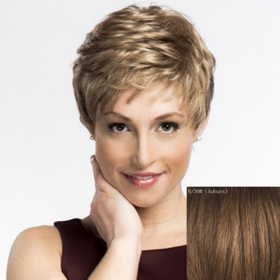 Womens Trendy Wavy Short Human Hair WigHuman Hair Wigs<br>Womens Trendy Wavy Short Human Hair Wig<br><br>Type: Full Wigs<br>Style: Wavy<br>Material: Human Hair<br>Bang Type: Side<br>Length: Short<br>Density: 130%<br>Length Size(CM): 14<br>Weight: 0.150KG<br>Package Contents: 1 x Wig