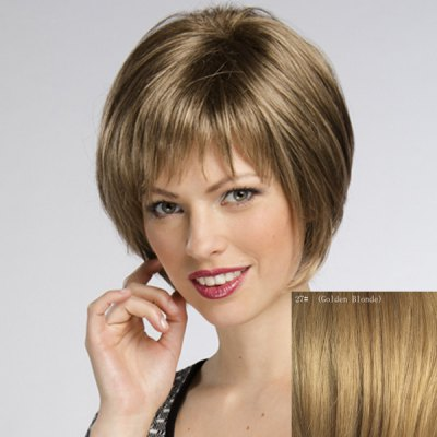 Womens Trendy Straight Short Human Hair WigHuman Hair Wigs<br>Womens Trendy Straight Short Human Hair Wig<br><br>Type: Full Wigs<br>Style: Straight<br>Material: Human Hair<br>Bang Type: Side<br>Length: Short<br>Density: 130%<br>Length Size(CM): 21<br>Weight: 0.160KG<br>Package Contents: 1 x Wig