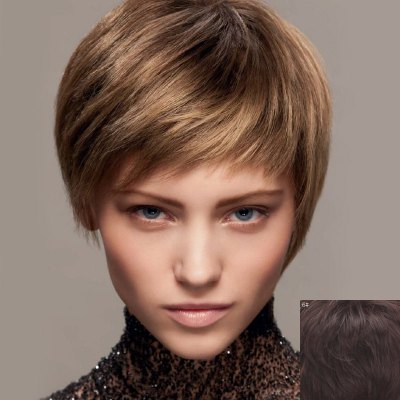 Fluffy Ultrashort Human Hair Wig For WomenHuman Hair Wigs<br>Fluffy Ultrashort Human Hair Wig For Women<br><br>Type: Full Wigs<br>Style: Straight<br>Material: Human Hair<br>Bang Type: Side<br>Length: Short<br>Density: 130%<br>Length Size(CM): 14<br>Weight: 0.150KG<br>Package Contents: 1 x Wig